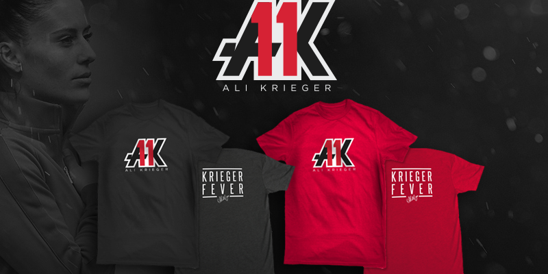 Official Ali Krieger T-Shirts Now Available!