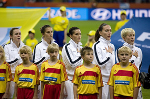 Heather O'Reilly, Carli Lloyd, Ali Krieger, Lauren Cheney, Megan Rapinoe