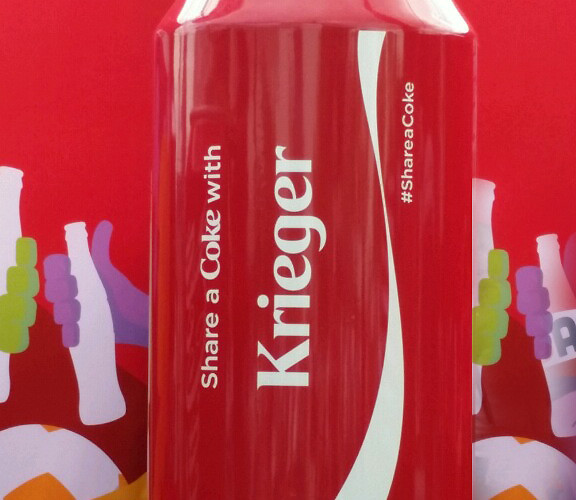 From Saturday's U.S. Match: Share a Coke with…Krieger