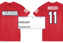 Ali Krieger Warrior Jersey T-Shirt Now Available